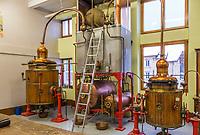 Europe/France/Franche-Comté/25/Doubs/La Cluse et Mijoux: Distillerie Les Fils d'Emile Pernot _ Distillation de l'absinthe - Détail de l'alambic // France, Doubs, La Cluse et Mijoux, distillery Les Fils d Emile Pernot, stills