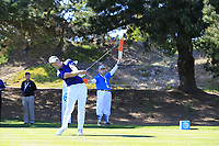 Luke Donald (ENG) tees off the 1st tee during Thursday's Round 1 of the 2018 AT&amp;T Pebble Beach Pro-Am, held over 3 courses Pebble Beach, Spyglass Hill and Monterey, California, USA. 8th February 2018.<br /> Picture: Eoin Clarke | Golffile<br /> <br /> <br /> All photos usage must carry mandatory copyright credit (&copy; Golffile | Eoin Clarke)