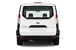 Straight rear view of 2018 Ford Transit-Connect Van-XL-SWB-(Rear-Liftgate) 5 Door Mini MPV Rear View  stock images