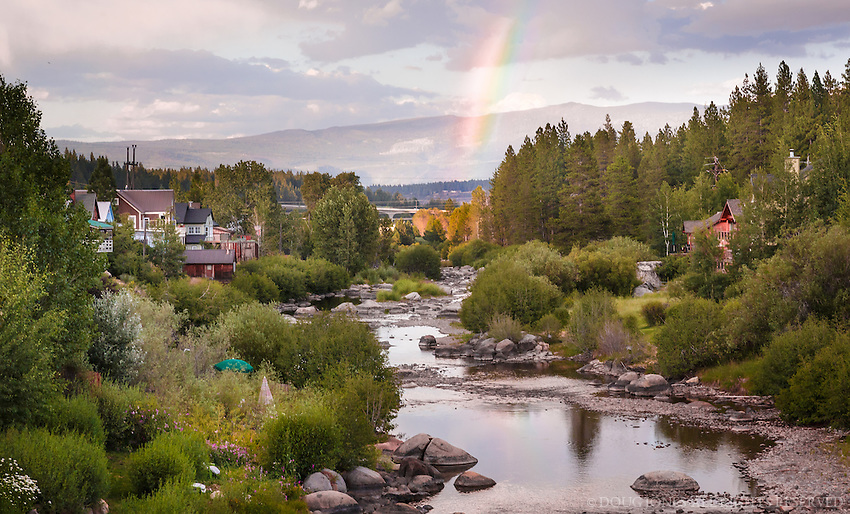 A perfectly timed rainbow over the Truckee River - and a much longer story behind this photo...