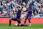 Real Madrid's Francisco Alarcon 'Isco' and Real Club Celta de Vigo's Pione Sisto during La Liga match between Real Madrid and Real Club Celta de Vigo at Santiago Bernabeu Stadium in Madrid, Spain. March 16, 2019. (ALTERPHOTOS/A. Perez Meca)