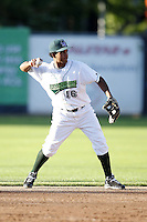 June 23, 2009:  Second Baseman Ernesto Manzanillo of the Jamestown Jammers in the field during a game at Russell Diethrick Park in Jamestown, NY.  The Jammers are the NY-Penn League Short-Season Class-A affiliate of the Florida Marlins.  Photo by:  Mike Janes/Four Seam Images