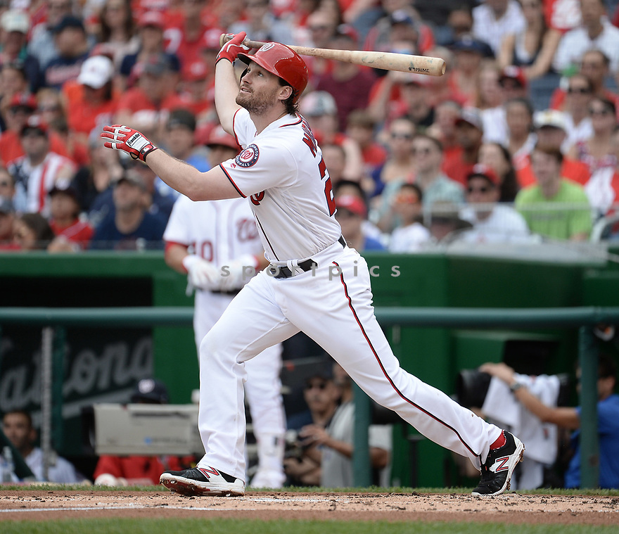 Washington Nationals Daniel Murphy (20) during a game against the Cincinnati Reds on July 3, 2016 at Nationals Park in Washington DC. The Nationals beat the Reds 12-1.
