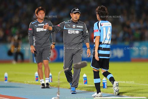 Yahiro Kazama Head Coach (Frontale), .September 29, 2012 - Football / Soccer : .2012 J.LEAGUE Division 1, 27th Sec .match between Kawasaki Frontale 1-0 Consadole Sapporo .at Kawasaki Todoroki Stadium, Kanagawa, Japan. .(Photo by Daiju Kitamura/AFLO SPORT) [1045]