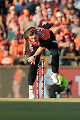 8th January 2018, The WACA, Perth, Australia; Australian Big Bash Cricket, Perth Scorchers versus Melbourne Renegades; David Willey of the Perth Scorchers bowls during the Renegades innings