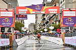 Brandon McNulty (USA) Rally UHC Cycling wins Stage 3 of Il Giro di Sicilia running 186km from Caltanissetta to Ragusa, Italy. 5th April 2019.<br /> Picture: LaPresse/Massimo Paolone | Cyclefile<br /> <br /> <br /> All photos usage must carry mandatory copyright credit (© Cyclefile | LaPresse/Massimo Paolone)