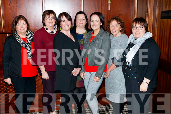 Helen Crowley, Marie Nolan, Christina O'Connor, Mary Griffin, Jennifer Casey, Ger O'Brien and Eilish Meehan, supporting Sickly Come Dancing, UHK, at Ballygarry House Hotel & Spa, Tralee on Friday night last.
