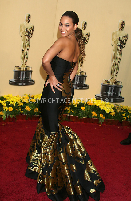 WWW.ACEPIXS.COM . . . . .  ....February 22, 2009. Hollywood, CA....Actress Beyonce arrives at the 81st Annual Academy Awards held at the Kodak Theater on February 22, 2009 in Hollywood, CA.......Please byline: Z09- ACEPIXS.COM.... *** ***..Ace Pictures, Inc:  ..Philip Vaughan (646) 769 0430..e-mail: info@acepixs.com..web: http://www.acepixs.com