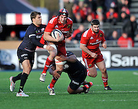 Hendon, England. Tommy O'Donnell of Munster in action  during the European Rugby Champions Cup match between Saracens and Munster at Allianz Park stadium on January 17, 2015 in Hendon, England.