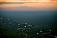 Arkansas River and Pikes Peak on hazy summer evening. Aug 9, 2014. 811920