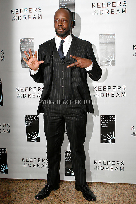 WWW.ACEPIXS.COM . . . . .  ....April 15 2010, New York City....Musician Wycleff Jean arriving at the 12th annual Keepers Of The Dream Awards at the Sheraton New York Hotel & Towers on April 15, 2010 in New York City.....Please byline: NANCY RIVERA- ACEPIXS.COM.... *** ***..Ace Pictures, Inc:  ..Tel: 646 769 0430..e-mail: info@acepixs.com..web: http://www.acepixs.com