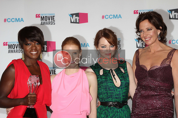 Viola Davis, Jessica Chastain, Emma Stone, Allison Janney<br />