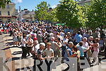 crowds having a great time at the World Bodhran Championships in Milltown on Sunday..