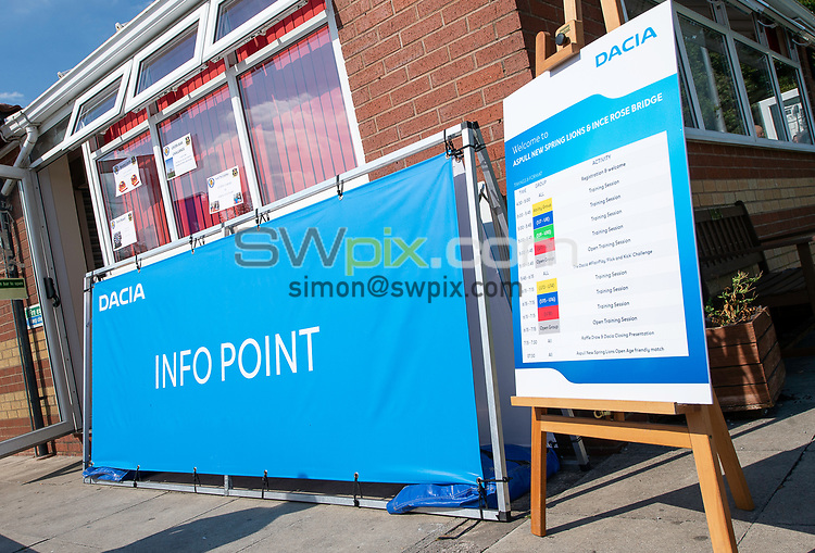 Picture by Allan McKenzie/SWpix.com - 25/07/2018 - Rugby League - Dacia Flair Play - New Spring Lions & Ince Rose Bridge RLFC, Ince-in-Makerfield, England - Information Point signage.