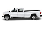 Car driver side profile view of a 2019 Chevrolet Silverado 2500 LT Crew Cab 4 Door Pick Up