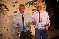 "GOLD COAST, Queensland/Australia (Thursday, February 24, 2011) Pat  and Dane Gudauskas (USA) -The ASP World Surfing Awards was held  tonight at the Gold Coast Convention and Exhibition Centre. .Surfing's ""night of nights"", the ASP World Surfing Awards, was a gala event, hosting the world's best surfers as well as distinguished figures from the surfing industry to honor of the 2010 ASP World Champions.. .Kelly Slater (USA), 39,  accepted his history-making and unprecedented tenth ASP World Title just a day before opening his 2011 ASP World Title campaign at the Quiksilver Pro Gold Coast.  .Stephanie Gilmore (AUS), 23,  made her own history ton the  evening, collecting her fourth consecutive Women's World Title. Gilmore will begin her 2011 assault this weekend at the opening event of the 2011 ASP Women's World Title season, the Roxy Pro Gold Coast.. .Slater and Gilmore headlined a slew of incredible athletes on the evening.. .Awards Recipient List:. .2010 ASP World Champion:Kelly Slater (USA).2010 ASP Women's World Champion:Stephanie Gilmore (AUS). .2010 ASP World Tour Runner-Up:Jordy Smith (ZAF).2010 ASP Women's World Tour Runner-Up:Sally Fitzgibbons (AUS). .2010 ASP World Tour Rookie of the Year: Owen Wright (AUS).2010 ASP Women's World Tour Rookie of the Year:Carissa Moore (HAW. .2010 ASP World Tour 'Breakthrough Performer':TBA.2010 ASP Women's World Tour 'Breakthrough Performer':TBA. .2010 ASP World Longboard Champion:Duane DeSoto (HAW).2010 ASP Women's World Longboard Champion:Cori Schumacher (HAW). .2010 ASP World Junior Champion:Jack Freestone (AUS).2010 ASP Women's World Junior Champion:Alizee Arnaud (FRA). .Photo: joliphotos.com"