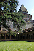 The Benedictine cloisters and Abbey Church of St. Pierre in Moissac. This treasure of Romanesque architecture was founded in the 7th Century and took nearly 200 years to complete because of incursions by Moorish and Viking invaders.