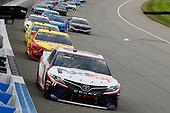 #11: Denny Hamlin, Joe Gibbs Racing, Toyota Camry FedEx Freight and #22: Joey Logano, Team Penske, Ford Mustang Shell Pennzoil