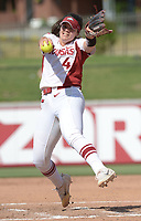 NWA Democrat-Gazette/ANDY SHUPE<br /> Arkansas starter Mary Haff delivers to the plate Friday, May 18, 2018, during the second inning against DePaul at Bogle Park during the NCAA Fayetteville Softball Regional on the university campus in Fayetteville. Visit nwadg.com/photos to see more photographs from the game.