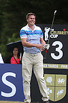 Dragons den star Peter Jones watches his tee shot on the 3rd hole during the practice round.<br /> Celebrity Cup Golf<br /> Celtic Manor Resort<br /> 04.07.14<br /> &copy;Steve Pope-SPORTINGWALES