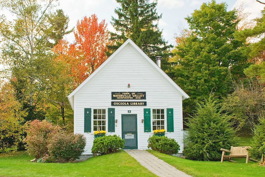 The quaint and cozy Osceola Library in Waterville Valley, New Hampshire.