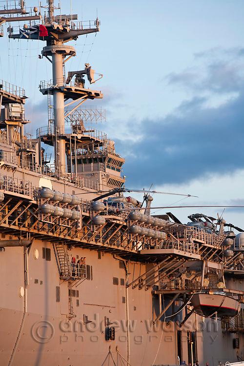 The USS Essex - an amphibious  assault ship.  Cairns, Queensland, Australia