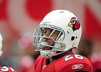 Sept. 13, 2009; Glendale, AZ, USA; Arizona Cardinals running back (26) Beanie Wells against the San Francisco 49ers at University of Phoenix Stadium. San Francisco defeated Arizona 20-16. Mandatory Credit: Mark J. Rebilas-