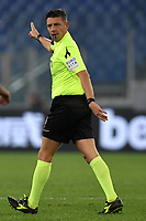 Referee Gianluca Rocchi gestures during the Serie A 2018/2019 football match between AS Roma and FC Internazionale at stadio Olimpico, Roma, December, 2, 2018 <br />  Foto Andrea Staccioli / Insidefoto