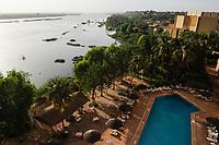 NIGER Niamey, Hotel Gaweye  and  river Niger