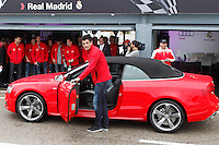 Real Madrid player Antonio Adan participates and receives new Audi during the presentation of Real Madrid's new cars made by Audi at the Jarama racetrack on November 8, 2012 in Madrid, Spain.(ALTERPHOTOS/Harry S. Stamper) .<br /> &copy;NortePhoto