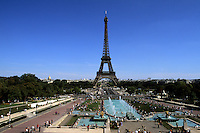 France Wonderful color of Eiffel Tower in Paris France
