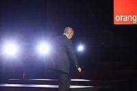 STEPHANE RICHARD - LE CEO D'ORANGE, STEPHANE RICHARD PRESENTE DJINGO, L'ASSISTANT VIRTUEL POUR LA DOMOTIQUE ET ORANGE BANK LORS DU 'SHOW HELLO' A LA SALLE PLEYEL, PARIS, FRANCE, LE 20/04/2017.
