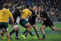 All Blacks' Dane Coles and Owen Franks in action during the All Blacks v Wallabies. The Rugby Championship &amp; Bledisloe Cup at Westpac Stadium, Wellington, New Zealand on Saturday 27 August 2016.<br /> Photo by Masanori Udagawa. <br /> www.photowellington.photoshelter.com.