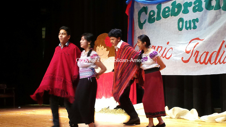 WATERBURY --  Crosby High School students perform a traditional Peruvian dance during a celebration of Three Kings Day Friday.