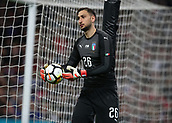 27th March 2018, Wembley Stadium, London, England; International Football Friendly, England versus Italy; Goalkeeper Gianluigi Donnarumma of Italy holds the match ball
