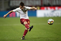 Calcio, Serie A: Milano, stadio Giuseppe Meazza (San Siro), 1 ottobre 2017.<br /> Roma's Alessandro Florenzi in action during the Italian Serie A football match between Milan and AS Roma at Milan's Giuseppe Meazza (San Siro) stadium, October 1, 2017.<br /> UPDATE IMAGES PRESS/IsabellaBonotto