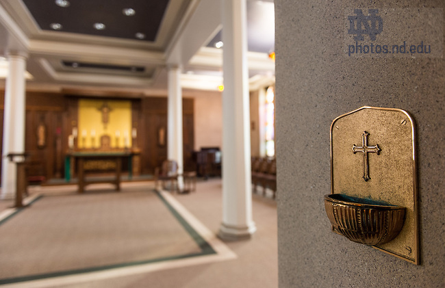 Jan. 8, 2015; St. Edward's Hall chapel prior to 2015 renovation. (Photo by Matt Cashore/University of Notre Dame)