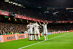 England's players celebrate goal during UEFA Nations League 2019 match between Spain and England at Benito Villamarin stadium in Sevilla, Spain. October 15, 2018. (ALTERPHOTOS/A. Perez Meca)
