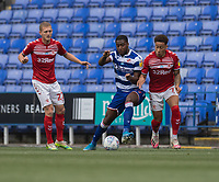 Middlesbrough's Marcus Tavernier (right) battles for possession with Reading's Yakou Meite (centre)<br /> <br /> Photographer David Horton/CameraSport<br /> <br /> The EFL Sky Bet Championship - Reading v Middlesbrough - Tuesday July 14th 2020 - Madejski Stadium - Reading<br /> <br /> World Copyright © 2020 CameraSport. All rights reserved. 43 Linden Ave. Countesthorpe. Leicester. England. LE8 5PG - Tel: +44 (0) 116 277 4147 - admin@camerasport.com - www.camerasport.com