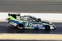Sep 15, 2013; Charlotte, NC, USA; NHRA funny car driver Tony Pedregon during the Carolina Nationals at zMax Dragway. Mandatory Credit: Mark J. Rebilas-