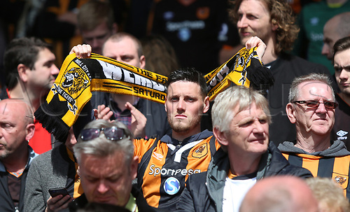 May 14th 2017, Selhurst Park, London, England; EPL Premier League football, Crystal Palace versus Hull Tigers; Hull fans at end of the game