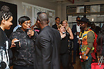 Guests attend the Murray West Fall Winter 2016 capsule collection fashion presentation by Jerrell West, in Contra Studios at 122 West 26 Street in New York City, on May 19, 2016.