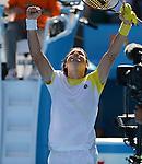 David Ferrer (ESP) Defeats Nicolas Almagro (ESP) 4-6, 4-6, 7-5, 7-6, 6-2