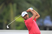Anirban Lahiri (Asia) on the 2nd tee during the Friday Foursomes of the Eurasia Cup at Glenmarie Golf and Country Club on the 12th January 2018.<br /> Picture:  Thos Caffrey / www.golffile.ie