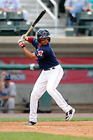 Lowell Spinners infielder Mookie Betts #7 during a game versus the Vermont Lake Monsters at LeLacheur Park in Lowell, Massachusetts on June 24, 2012.  (Ken Babbitt/Four Seam Images)