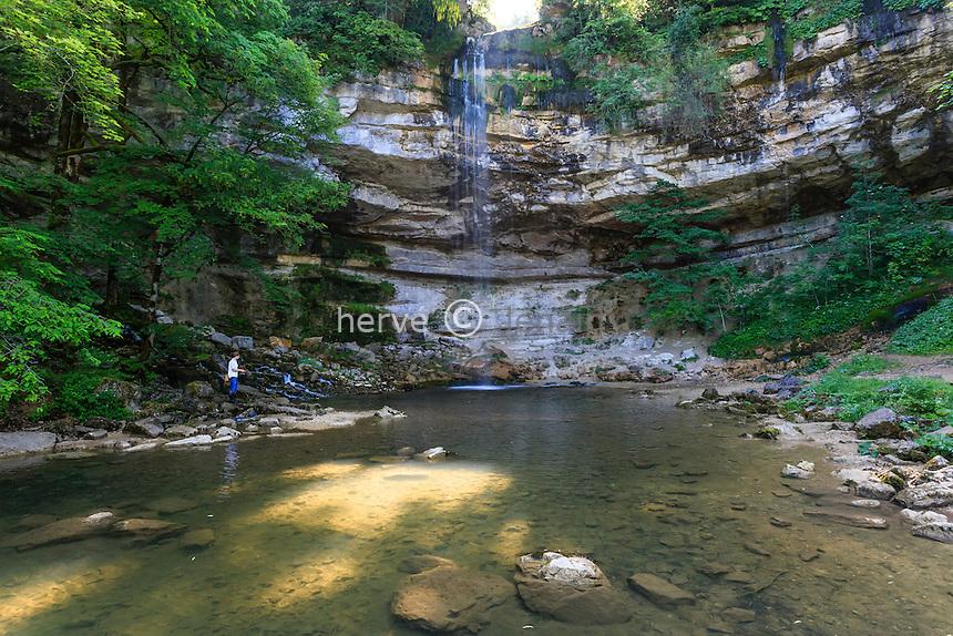 France, Jura (39), Menétrux-en-Joux, cascades du Hérisson, le Saut Girard // France, Jura, Menetrux en Joux, Herisson waterfalls Saut Girard fall