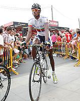 Daniel Teklehaimanot during the stage of La Vuelta 2012 between Barakaldo and Valdezcaray.August 21,2012. (ALTERPHOTOS/Acero) /NortePhoto.com