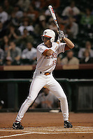 Texas Longhorns OF Kyle Russell during the 2008 season. Photo by Andrew Woolley / Four Seam Images.
