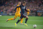 Atletico de Madrid's Antoine Griezmann and FC Barcelona Mascherano during Champions League 2015/2016 Quarter-Finals 2nd leg match. April 13, 2016. (ALTERPHOTOS/BorjaB.Hojas)