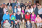 PARTY TIME: David O'Donoghue, Oakpark, Tralee (seated 3rd left) celebrated his 21st birthday last Saturday night in the Kerins O'Rahillys GAA clubhouse, Strand Rd., Tralee with his parents Geraldine and Jim, brother Mark and family and friends..